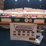 Selling Krispy Kremes to raise money for our products
