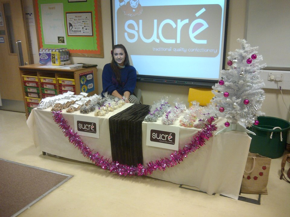 Rhonwen manning the stall at Rose Court.